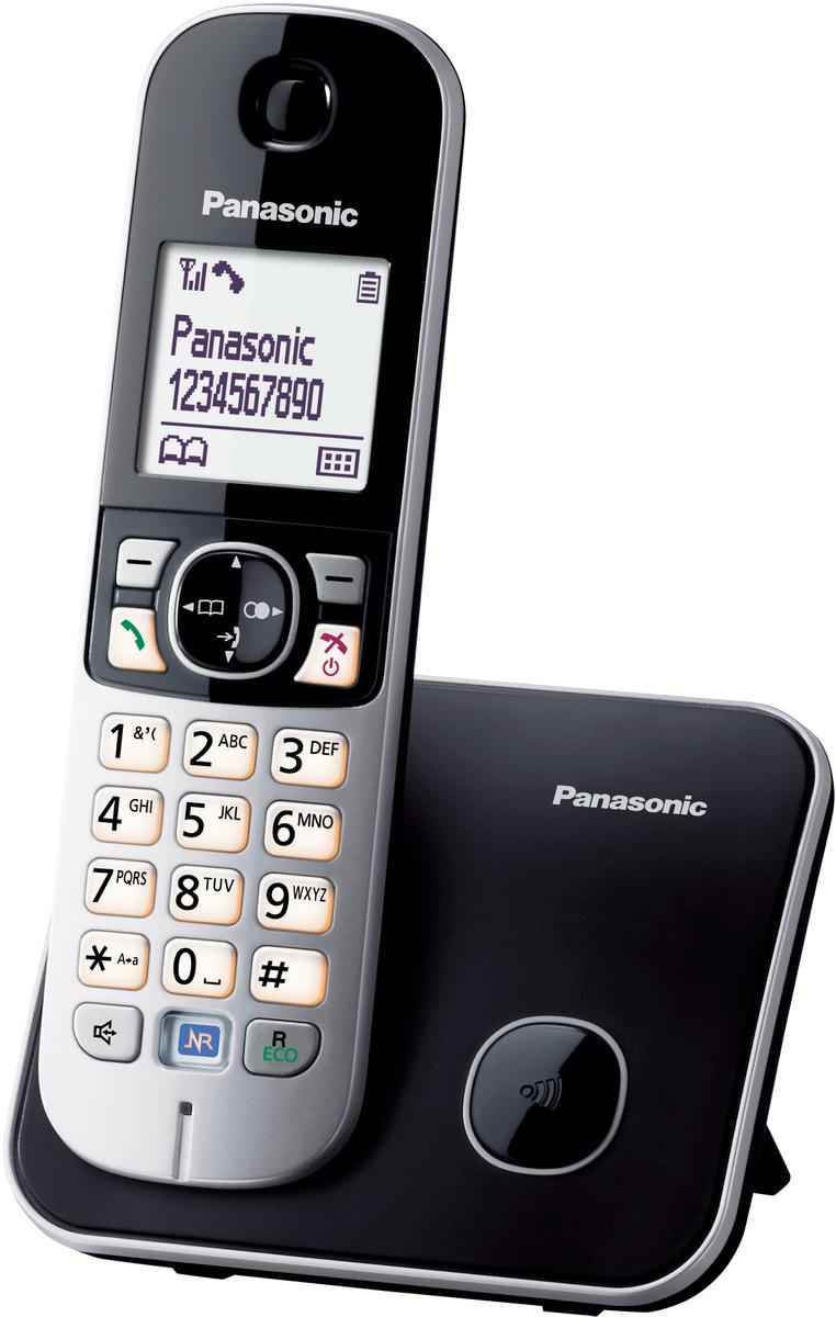 Ασύρματα τηλέφωνα- Panasonic KX-TG6811G Ασύρματο Τηλέφωνο Black Silver -  www.guaranty.gr b60e1d51291