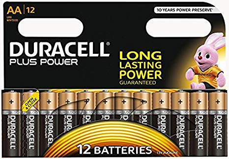 Duracell Plus Power, Battery (12 pieces, AA) (5000394017825)
